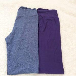 NWOT- Lularoe Solid (2-pck) Leggings (Blue/Purple)